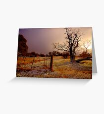 Golden Chill - Hill End - The HDR Experience Greeting Card