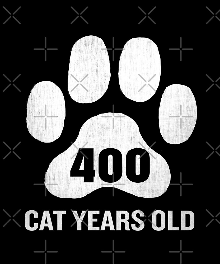 400 Cat Years Old Funny 100th Retired Birthday Gift by SpecialtyGifts