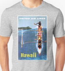 1953 United Airlines Hawaii Travel Poster T-Shirt