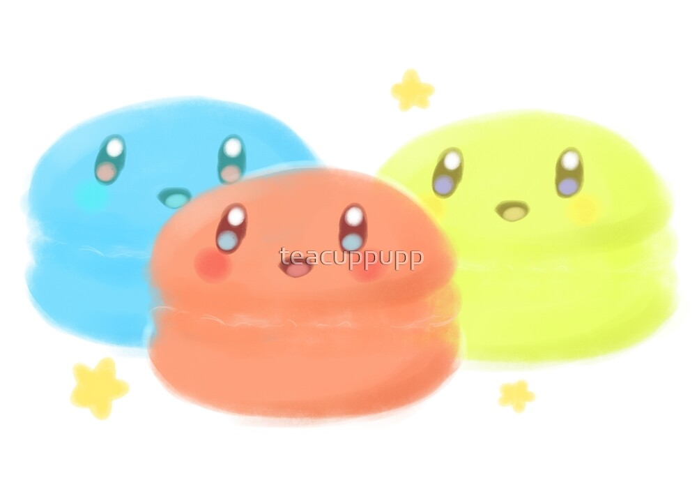 Kirby Macarons  by teacuppupp
