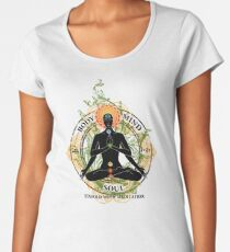 Yoga : Mind Body and Soul KUNDALINI Women's Premium T-Shirt