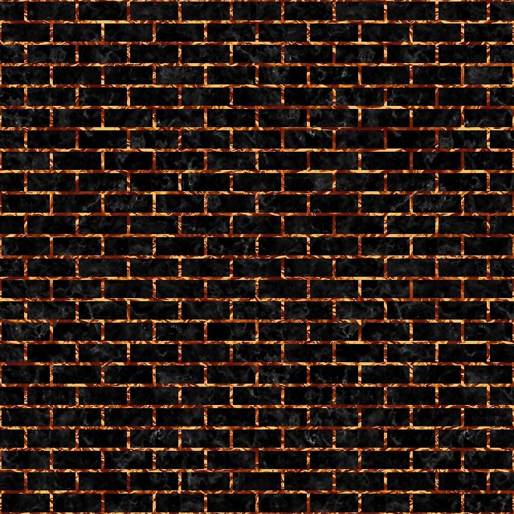 BRICK1 BLACK MARBLE & COPPER FOIL by johnhunternance