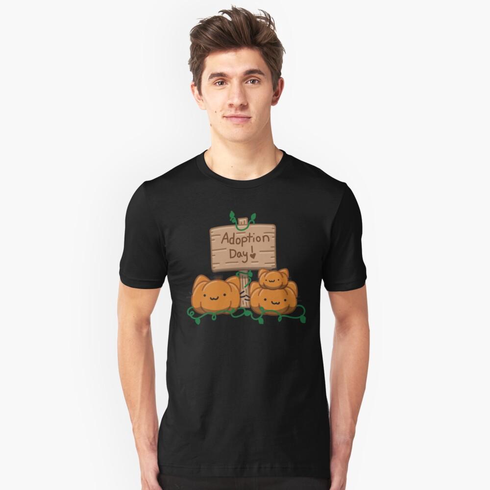 Adopt a pumpkin kitty day Unisex T-Shirt Front