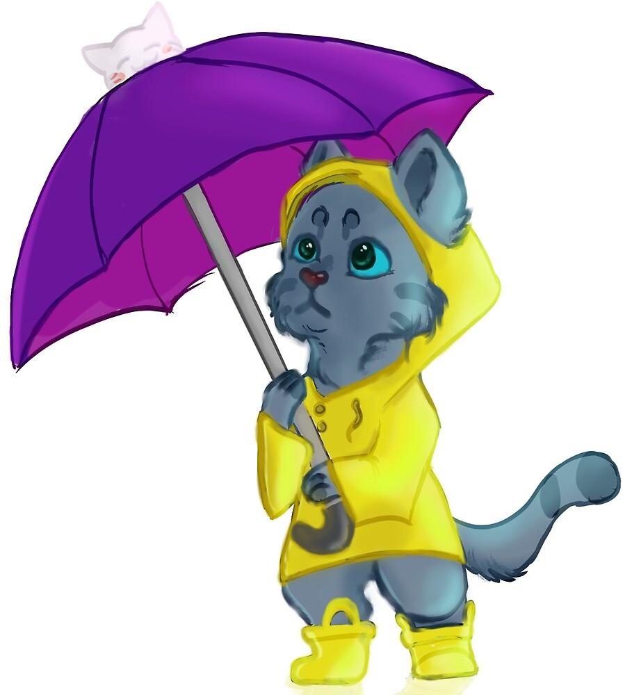 April Showers Kitten by JadedStudios