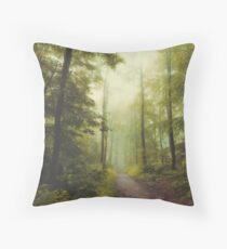 Long Forest Walk Throw Pillow