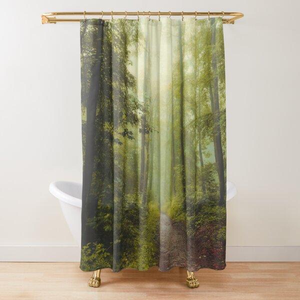Long Forest Walk Shower Curtain