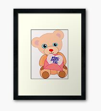 Teddy with mother's day message (5817 views) Framed Print