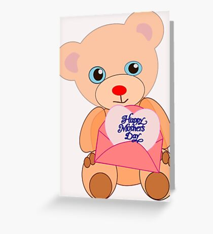 Teddy with mother's day message (5816 views) Greeting Card