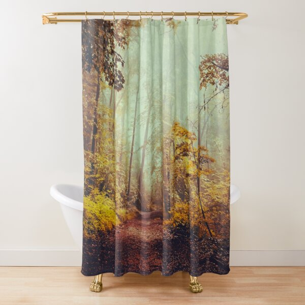 silent forest Shower Curtain