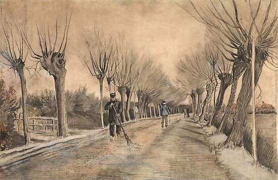 Road in Etten, Vincent Van Gogh  by fineearth