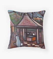 The village well Throw Pillow