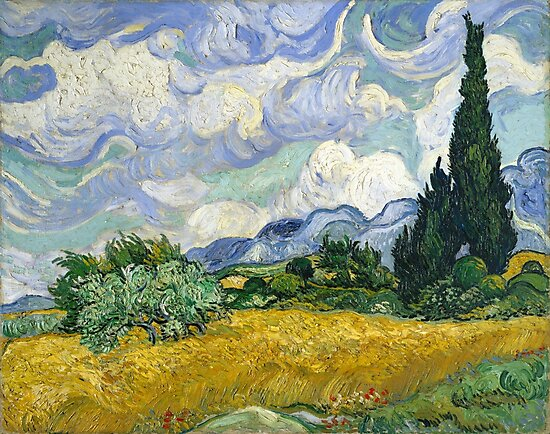 Van Gogh, Wheat Field with Cypresses, 1889  by fineearth