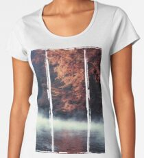 Nature*s Mirror - Fall at the River Women's Premium T-Shirt