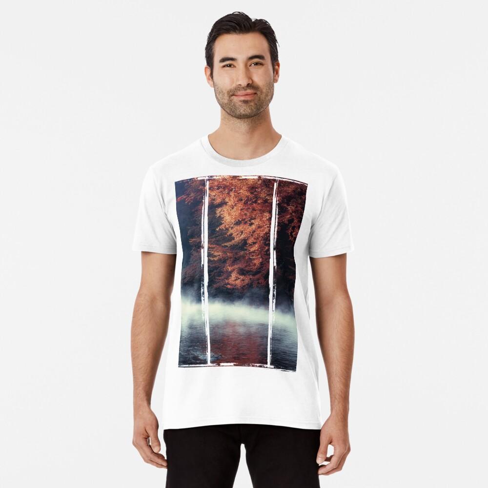 Nature*s Mirror - Fall at the River Premium T-Shirt
