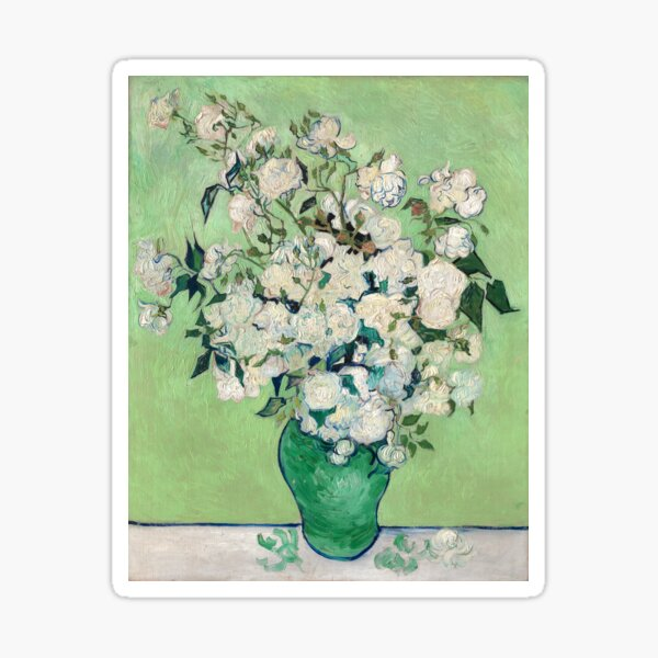 Van Gogh, Roses, 1890 Sticker