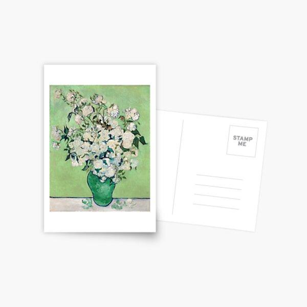 Van Gogh, Roses, 1890 Postcard