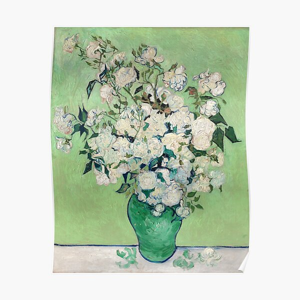 Van Gogh, rosas, 1890 Póster