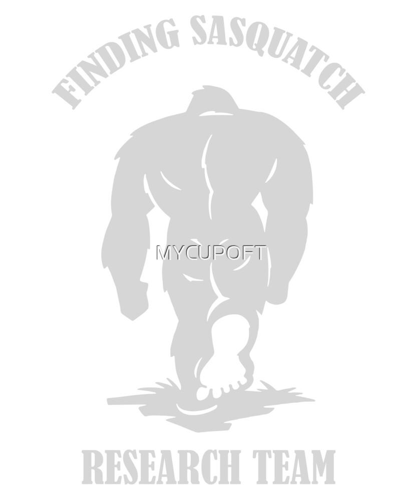 BIGFOOT SASQUATCH RESEARCH TEAM YETI FUNNY T-SHIRT  by MYCUPOFT