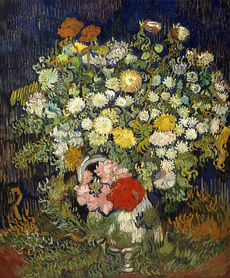 Van Gogh, Bouquet of Flowers in a Vase, 1890 by fineearth