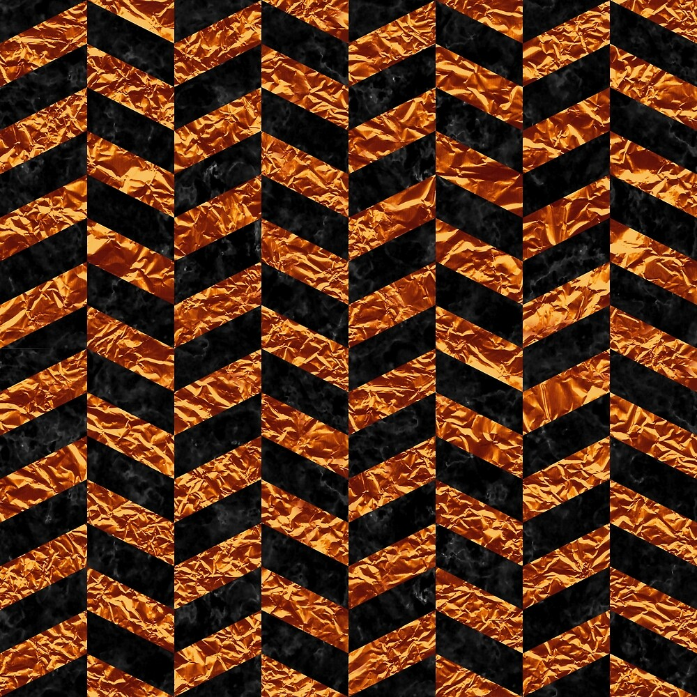 CHEVRON1 BLACK MARBLE & COPPER FOIL by johnhunternance