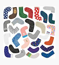 Socks collection Photographic Print