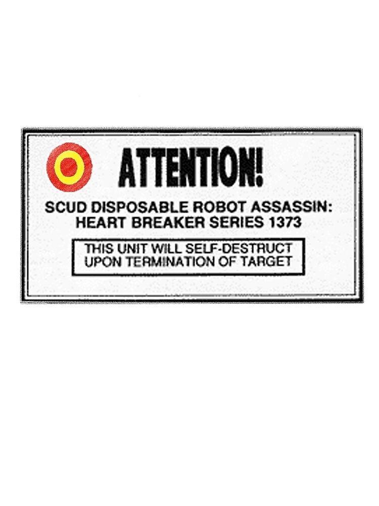 SCUD the Disposable Assassin Label by Yed943