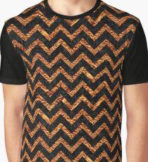 CHEVRON9 BLACK MARBLE & COPPER FOIL Graphic T-Shirt