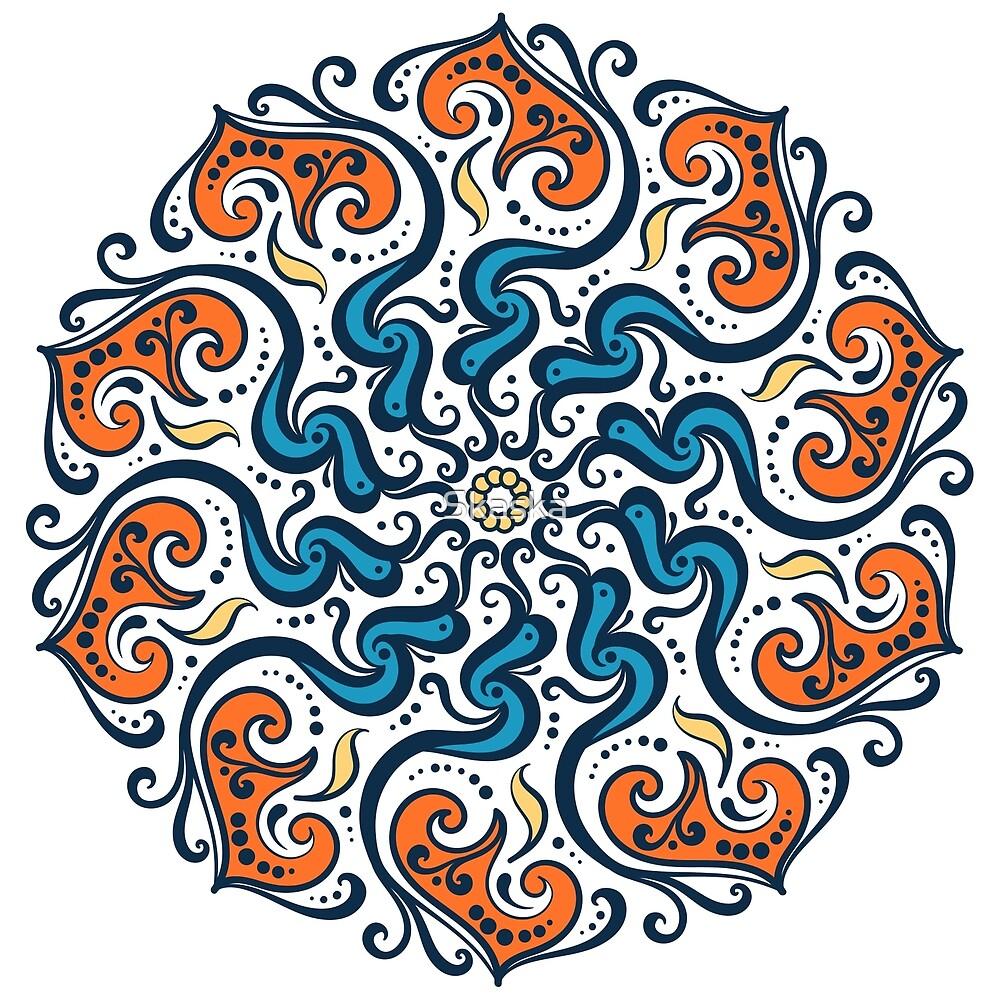 Circular ornament. Ethnic style. Talisman by Skaska