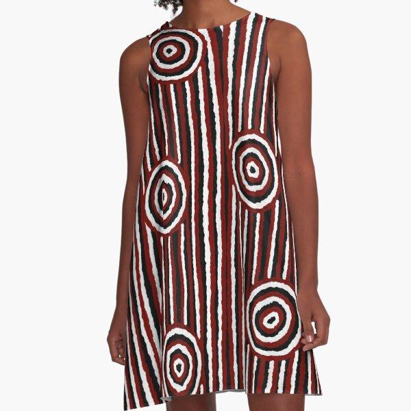 Aboriginal Art – Campsites A-Line Dress