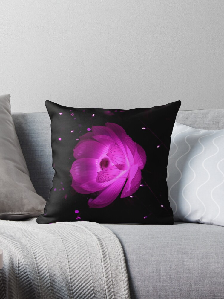 Pink Bioluminescent Lotus Pillows, iPhone Cases, and More by William Harris