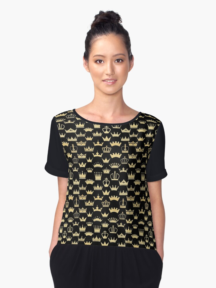 Kings and Queens Women's Chiffon Top Front