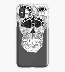 Australian Aboriginal Art - Skull X Ray Black White iPhone Case/Skin