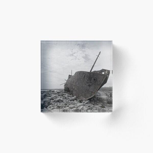 Plassey shipwreck Acrylic Block
