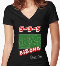 Bizona - Modulo a farfalla Women's Fitted V-Neck T-Shirt