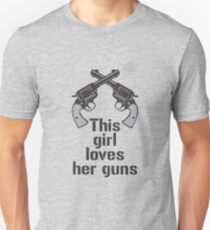 Funny  Guns Love Humor Gift T-Shirt T-Shirt
