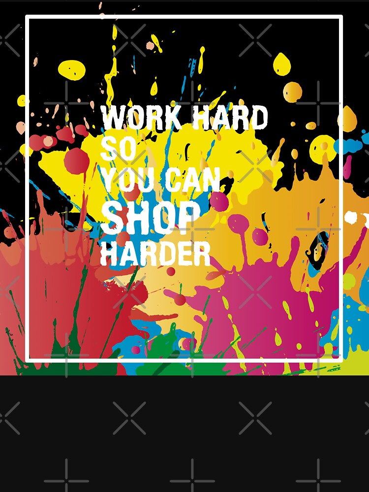 Typography Funny Life Quote Work Hard So You Can Design by LisaLiza