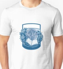 Rhododendron Orcas Island Book Woodcut T-Shirt