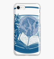 Rhododendron Orcas Island Book Woodcut iPhone Case/Skin