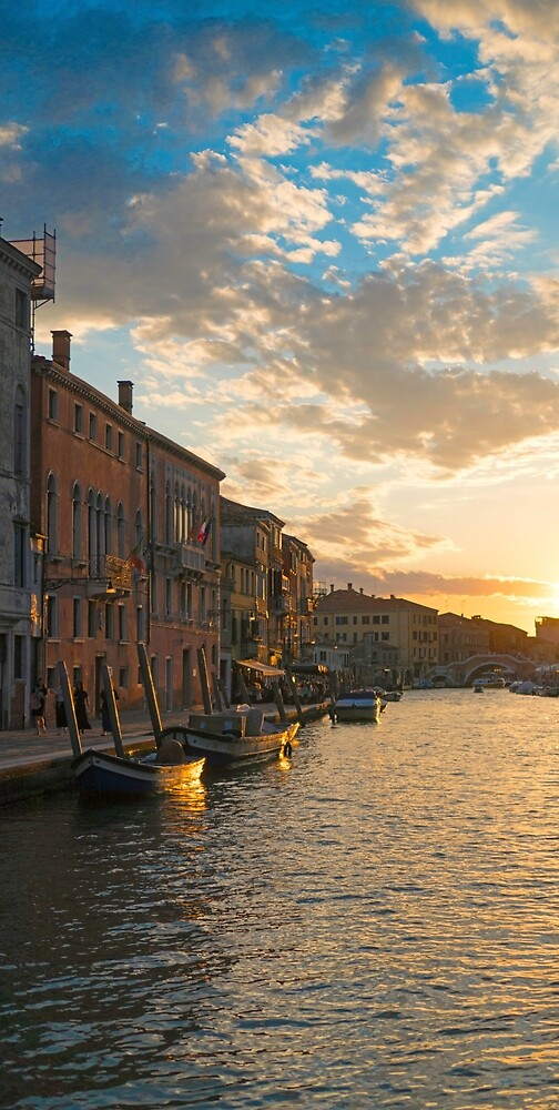 Sunset on the Cannaregio Canal  by PepperMendez
