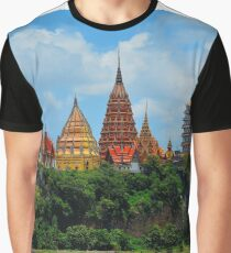 Thailand Colorful Buddhist Temple Graphic T-Shirt