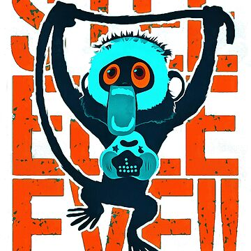 monkey cartoon by KasandraAllen77