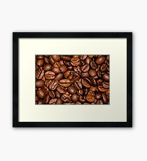 Shiny brown coffee beans Framed Print