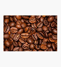 Shiny brown coffee beans Photographic Print