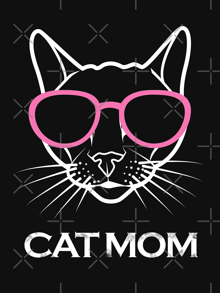 Cat Face with Glasses Cat Mom by aashiarsh