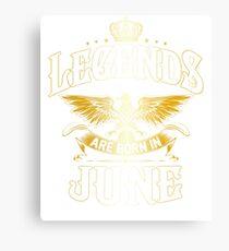 Lienzo Las leyendas nacen en junio