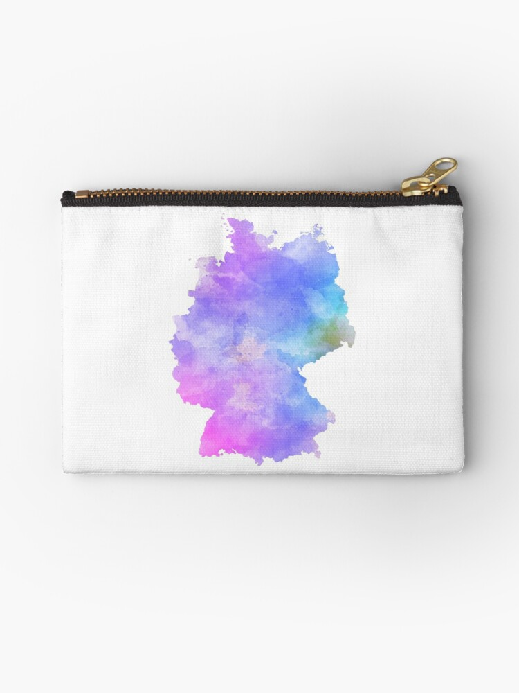 Germany Map Watercolor Purple Shades by lukassfr