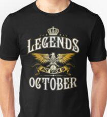 Legends Are Born In October Unisex T-Shirt