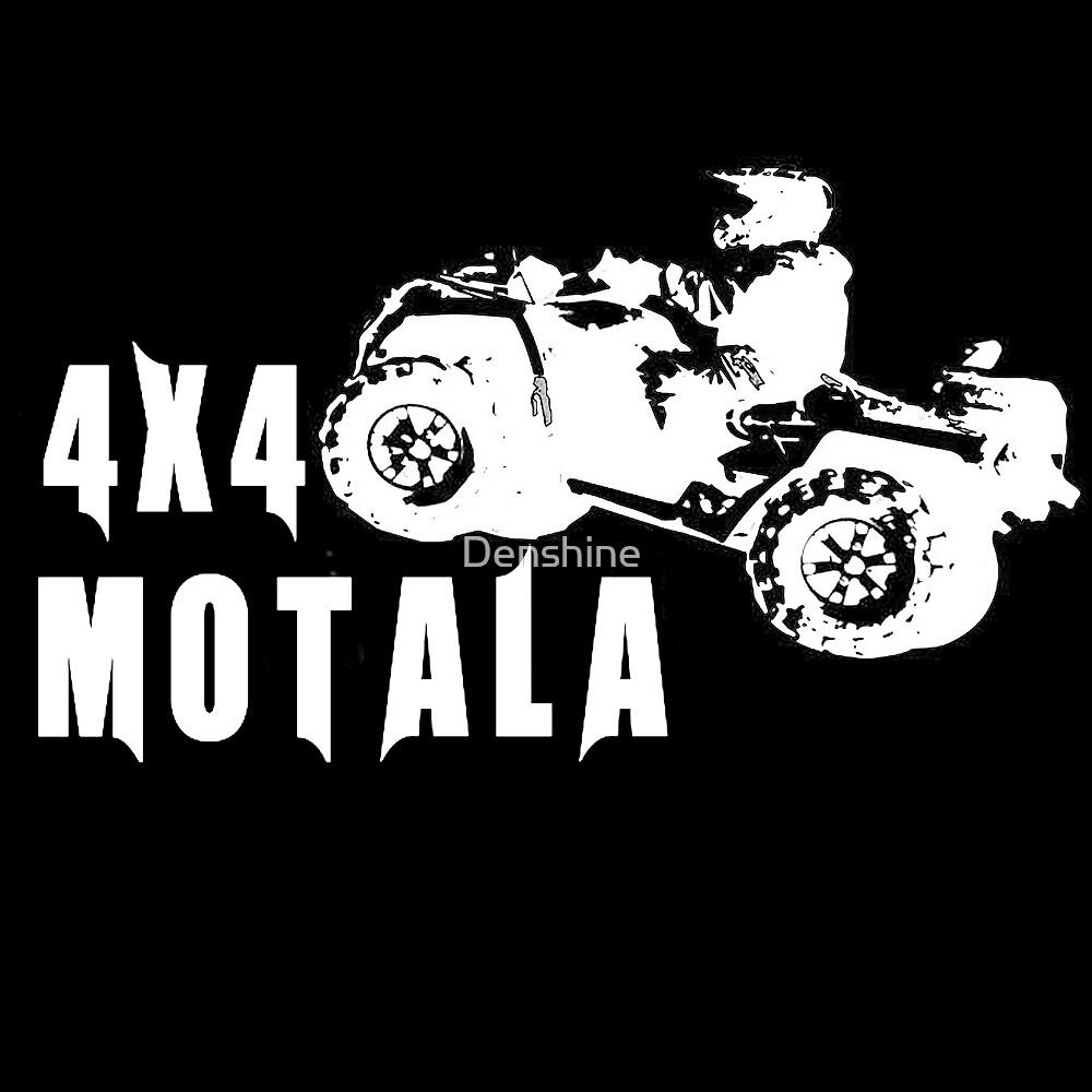 4x4 Motala logga vit by Denshine