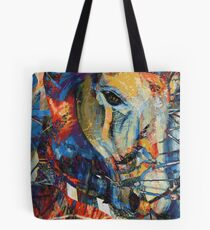 Abstract Horse Wild and Free Tote Bag