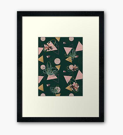 Succulents Atoms #redbubble #decor #buyart Framed Print